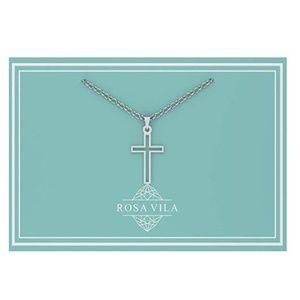 Jewelry - Dainty Cross Silver Pendant Necklace Women